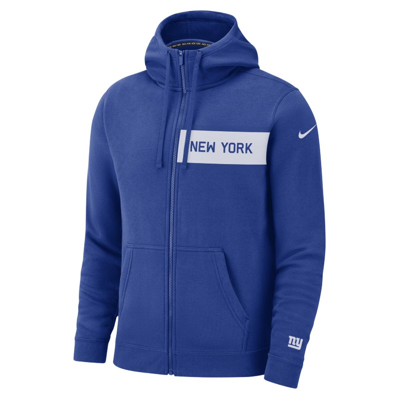 Nike Nike (NFL Giants) Men's Club Fleece Full-Zip Hoodie - Blue