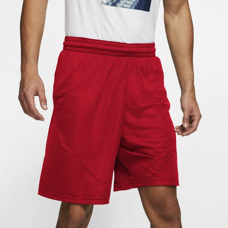 """Nike Men's 9""""(23cm approx.) Basketball Shorts - Red"""