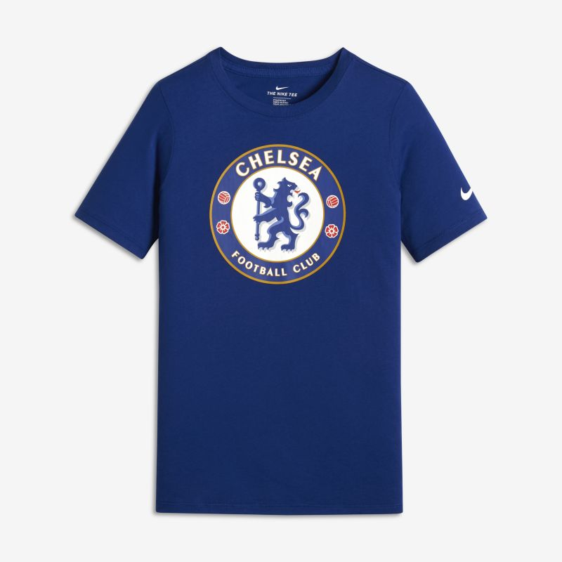 Chelsea FC Evergreen Crest Younger/Older Kids' T-Shirt - Blue