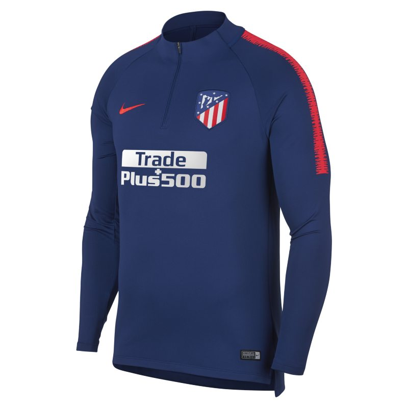 Atletico de Madrid Dri-FIT Squad Drill Men's Long-Sleeve Football Top - Blue