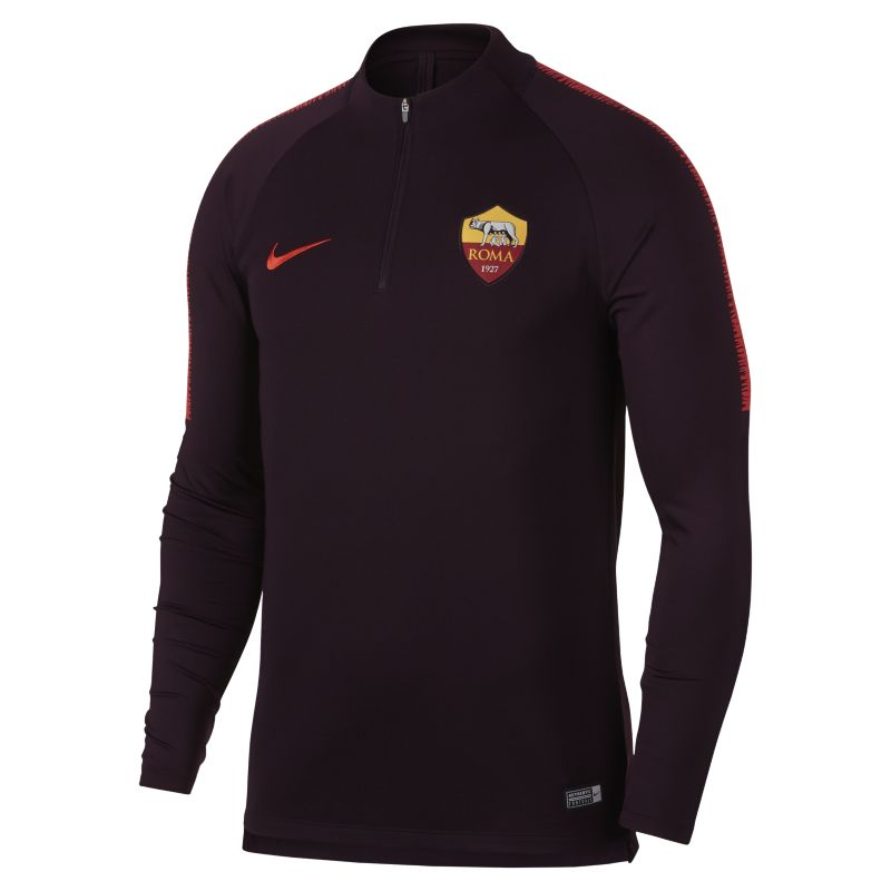 A.S. Roma Dri-FIT Squad Drill Men's Long-Sleeve Football Top - Red