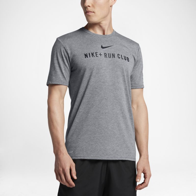 Nike Dri-FIT Run Club Men's T-Shirt - Grey