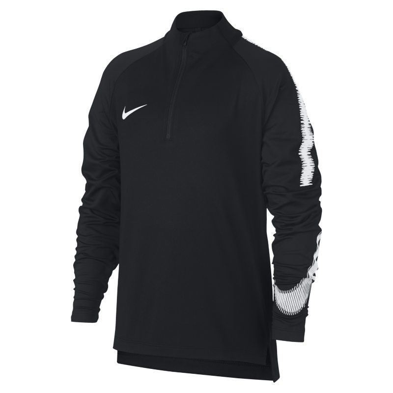 Nike Dri-FIT Squad Drill Older Kids'(Boys') Long-Sleeve Football Top - Black