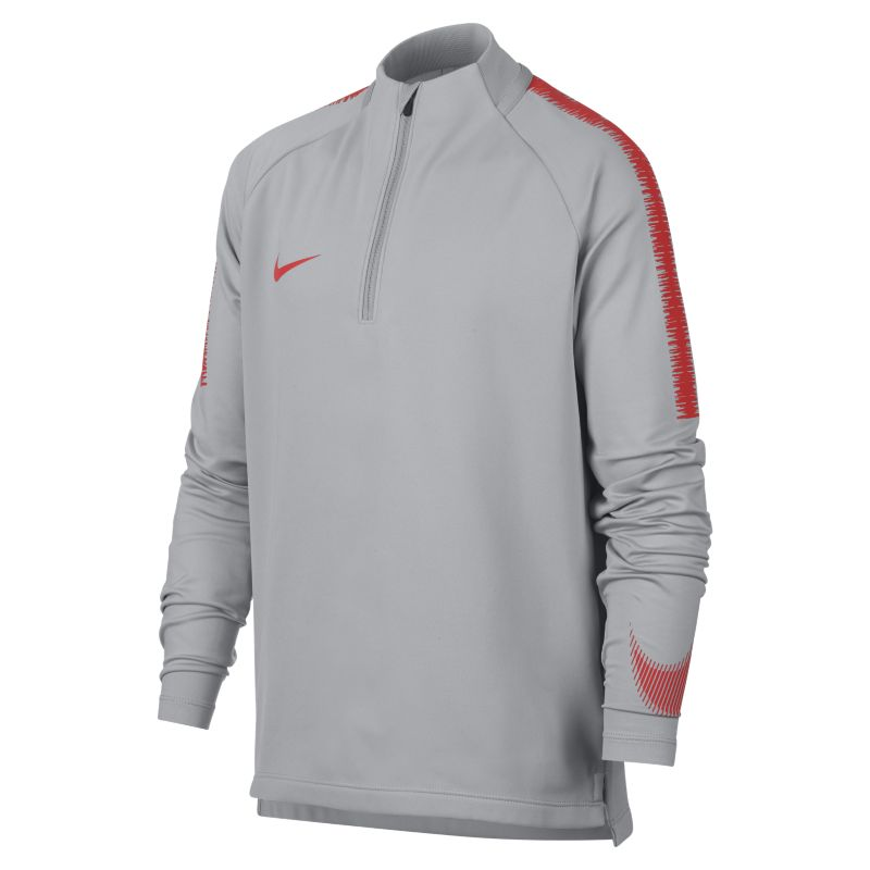 Nike Dri-FIT Squad Drill Older Kids' (Boys') Long-Sleeve Football Top - Grey