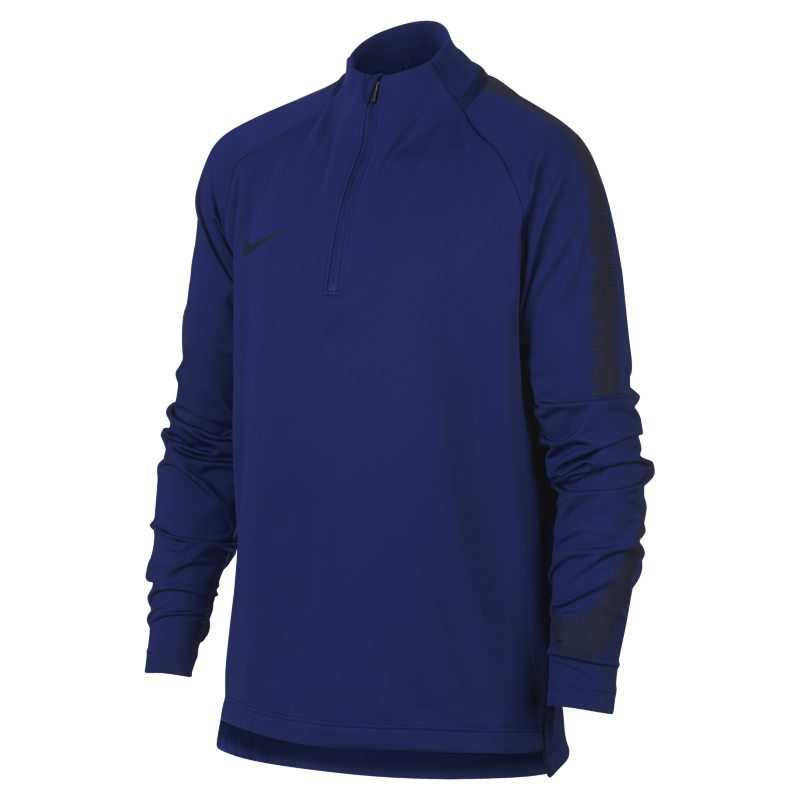 Nike Dri-FIT Squad Drill Older Kids'(Boys') Long-Sleeve Football Top - Blue