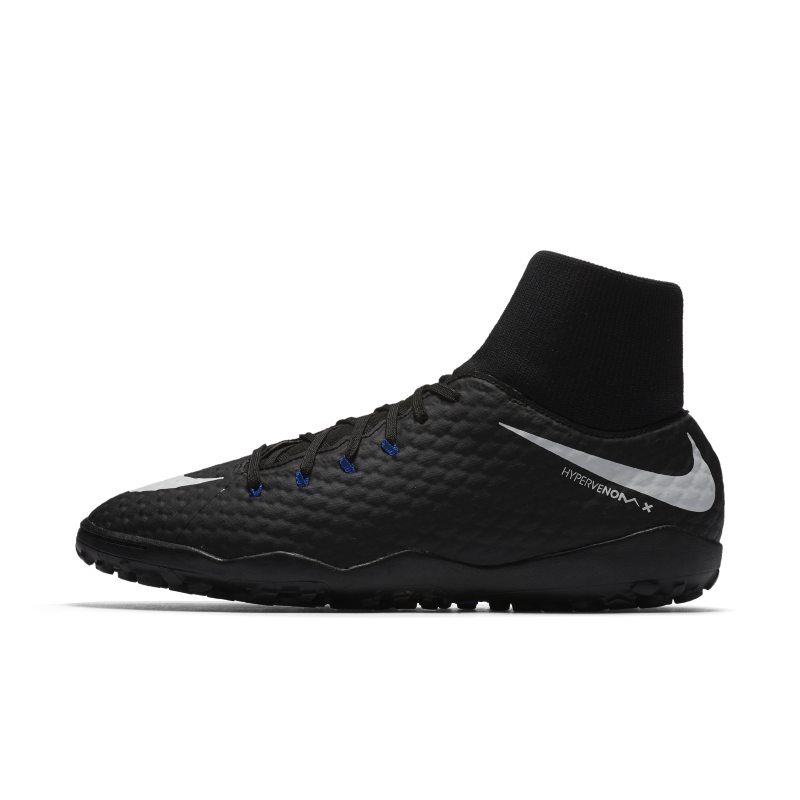Nike HypervenomX Phelon III Dynamic Fit Turf Football Shoe - Black