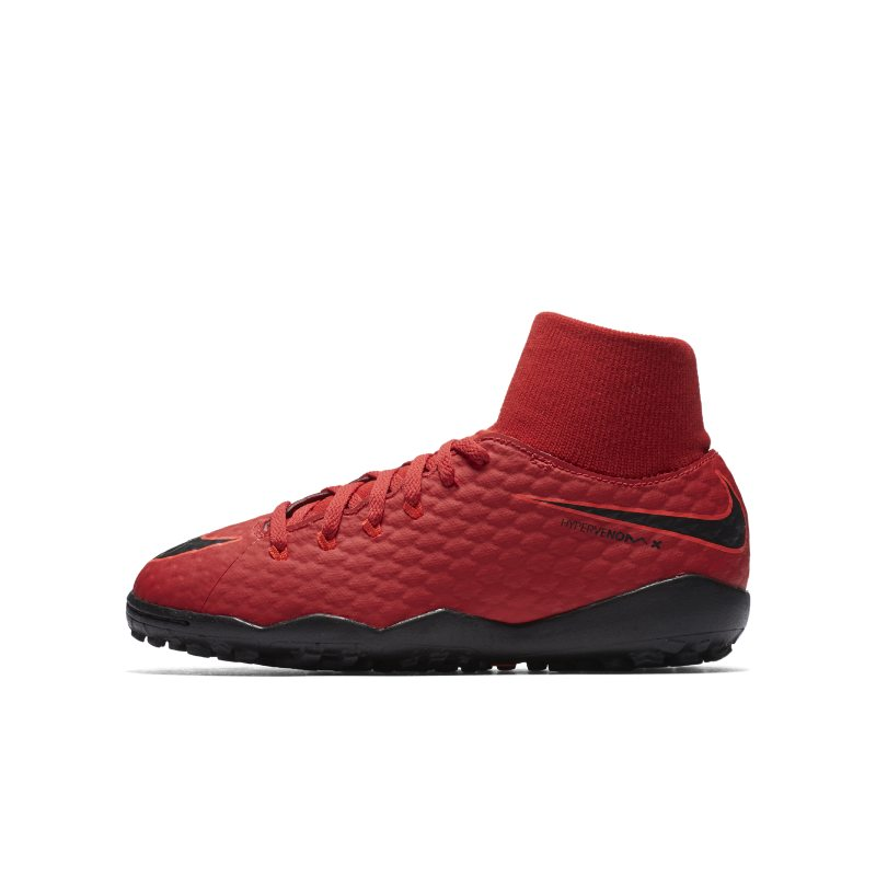 Nike Jr. HypervenomX Phelon III Dynamic Fit Older Kids'Artificial-Turf Football Shoe - Red
