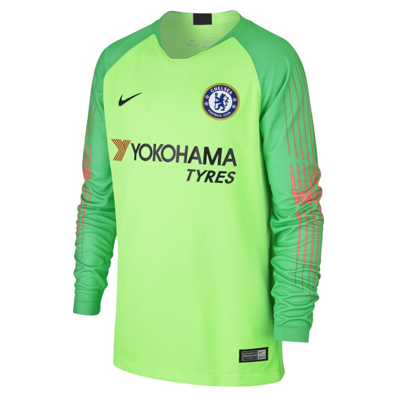 2018/19 Chelsea FC Stadium Goalkeeper Older Kids' Long-Sleeve Football Shirt - Green