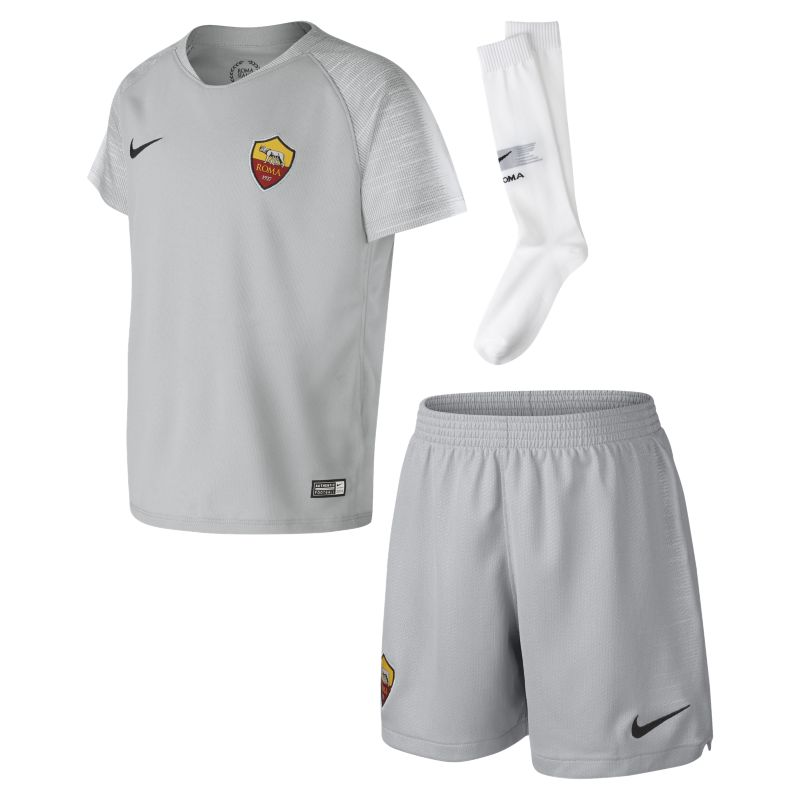 2018/19 AS Roma Stadium Away Younger Kids'Football Kit - Grey