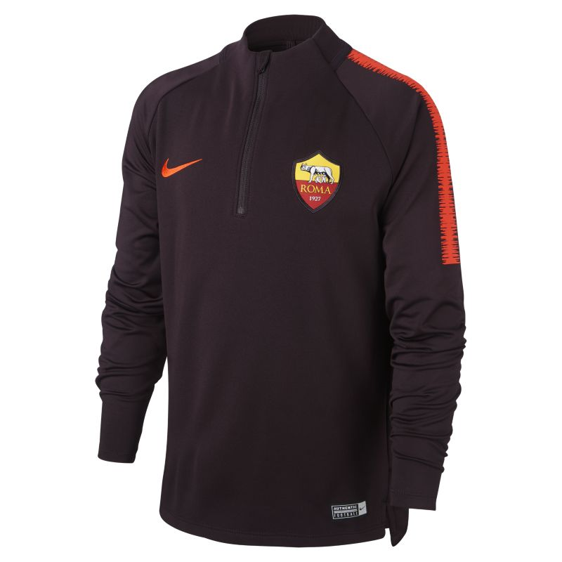 A.S. Roma Dri-FIT Squad Drill Older Kids'Long Sleeve Football Top - Red