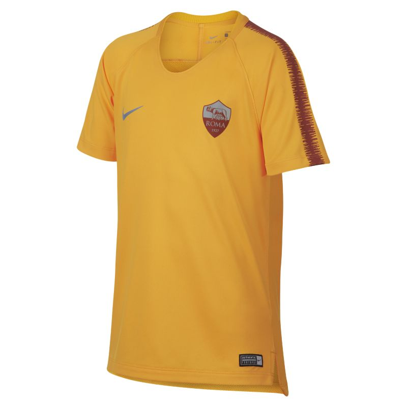 Nike Breathe A.S. Roma Squad Older Kids' Short-Sleeve Football Top - Gold