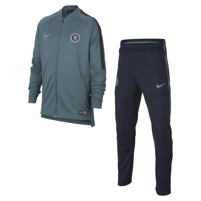 Chelsea FC Dri-FIT Squad Older Kids' Football Track Suit - Blue