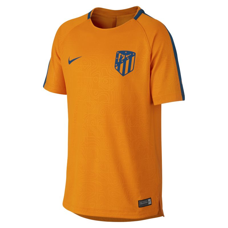 Atletico de Madrid Dri-FIT Squad Older Kids'Football Top - Orange