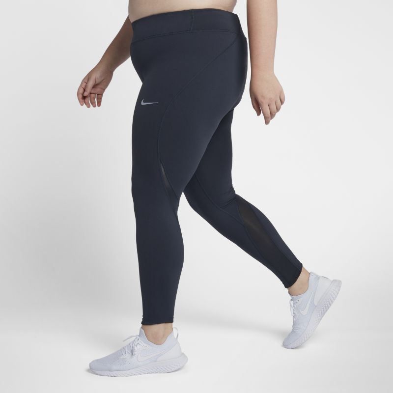 Nike Plus Size - Epic Lux Women's Mid-Rise Running Tights - Blue