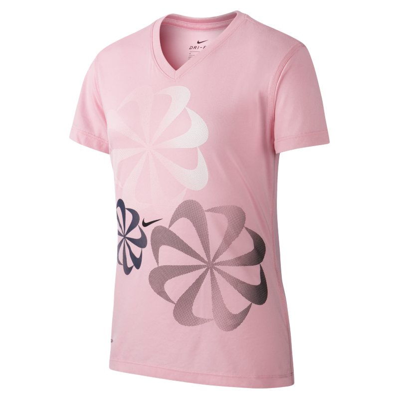 Nike Dri-FIT Older Kids'(Girls') Training T-Shirt - Pink thumbnail