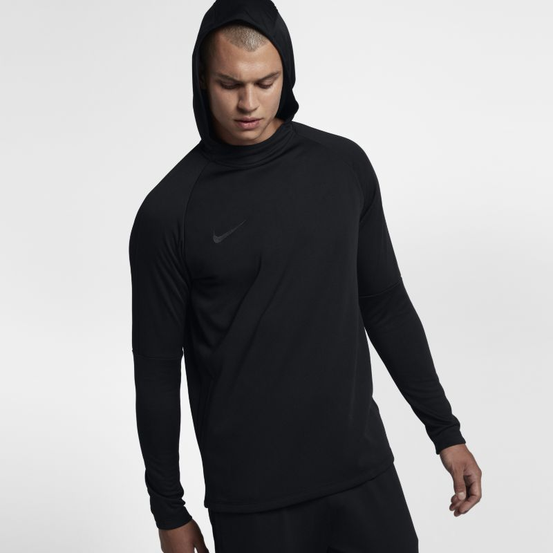 Nike Dri-FIT Academy Men's Pullover Football Hoodie - Black
