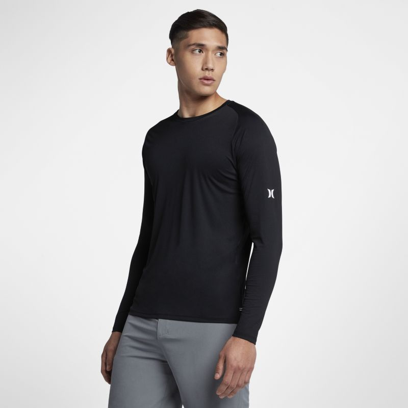 Hurley Icon Quick Dry Men's Long-Sleeve Surf Top - Black