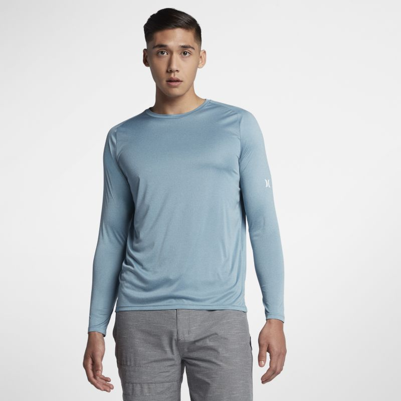 Hurley Icon Quick Dry Men's Long-Sleeve Surf Top - Blue