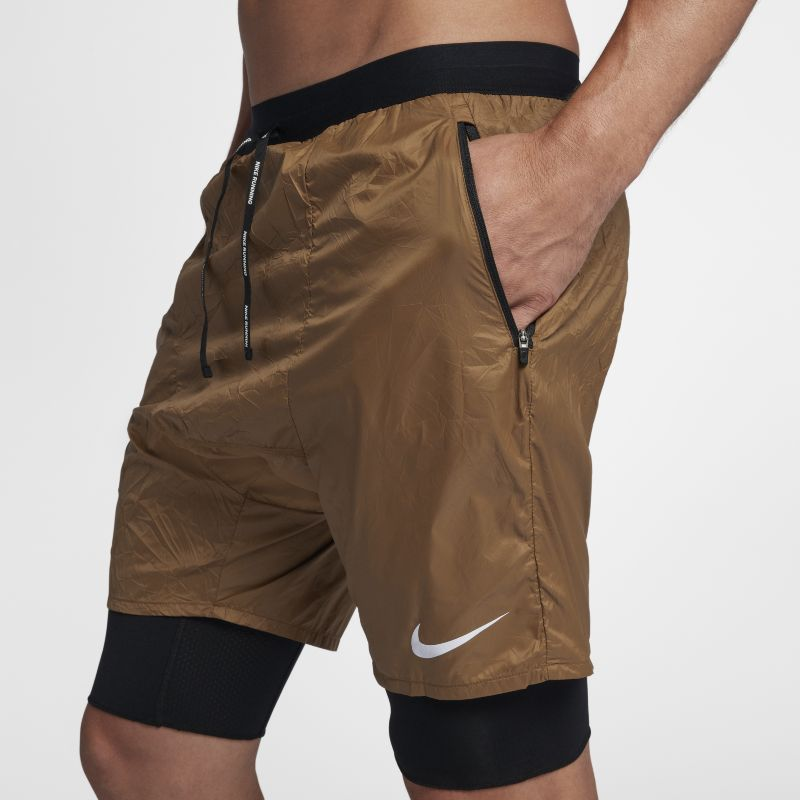 Nike Flex Run Division Stride Elevate Men's 2-in-1 Running Shorts - Brown