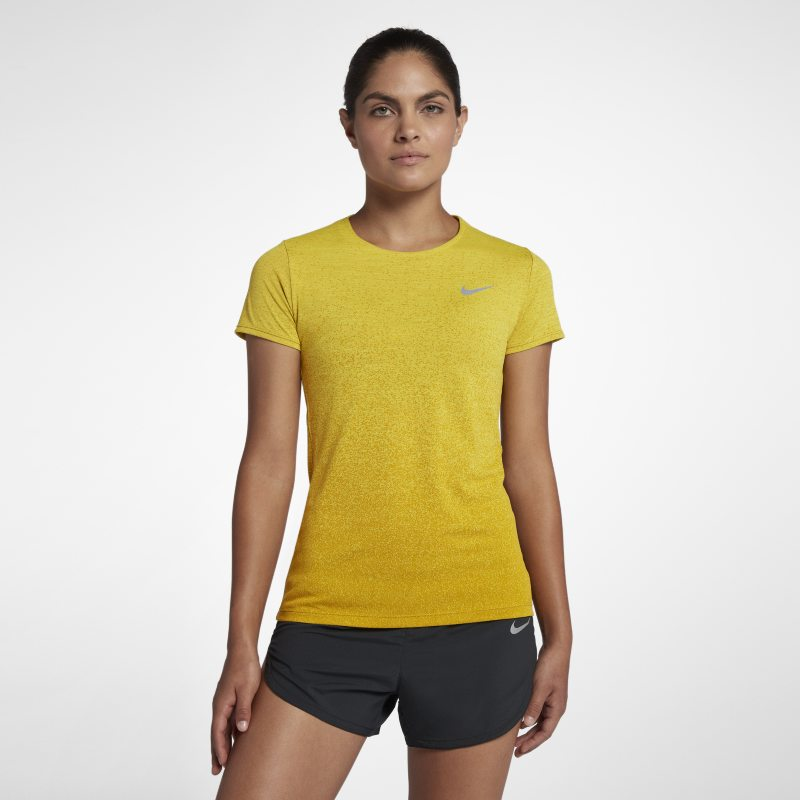 Nike Medalist Women's Short-Sleeve Running Top - Yellow