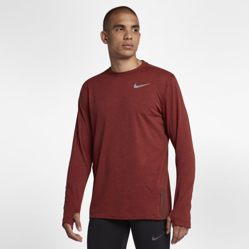 Nike Sphere Element 2.0 Men's Long-Sleeve Running Top - Brown
