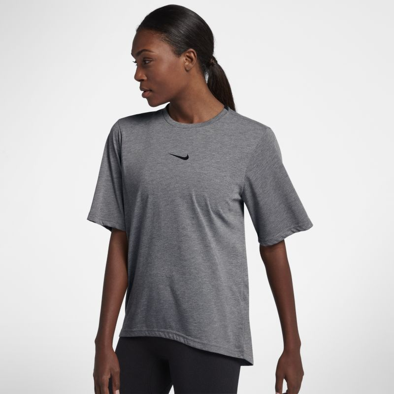 Nike Dri-FIT Women's Short-Sleeve Training Top - Grey