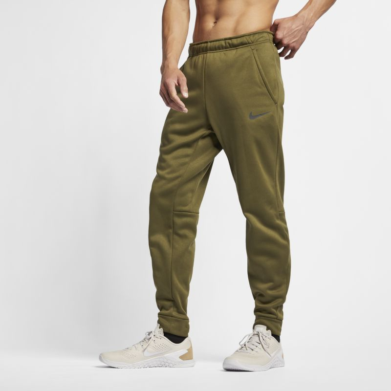 Nike Therma Men's Tapered Training Trousers - Olive
