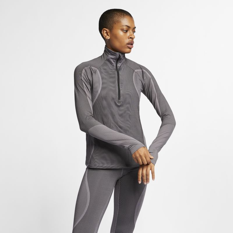 Nike Pro HyperWarm Women's 1/2-Zip Top - Black