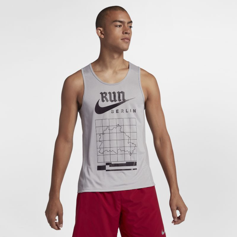 Nike Miler (Berlin 2018) Men's Running Tank - Grey