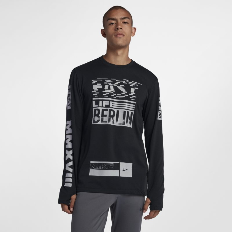 Nike Sphere Element (Berlin 2018) Men's Long-Sleeve Running Top - Black