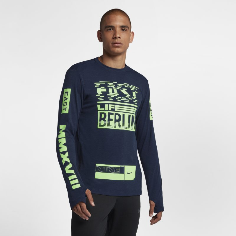 Nike Sphere Element (Berlin 2018) Men's Long-Sleeve Running Top - Blue
