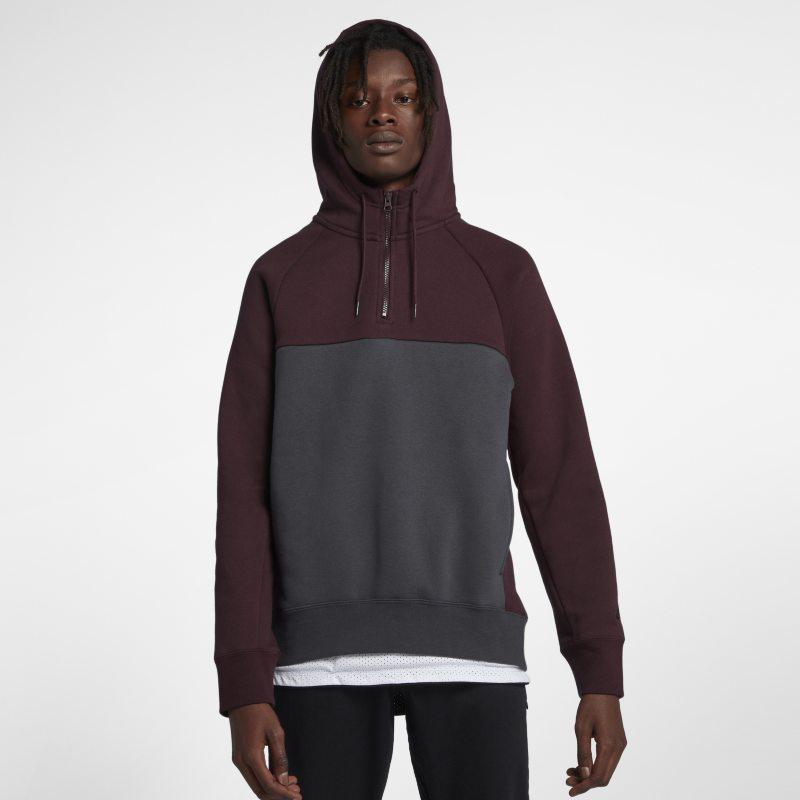 Nike SB Icon Men's 1/2-Zip Skateboarding Hoodie - Black