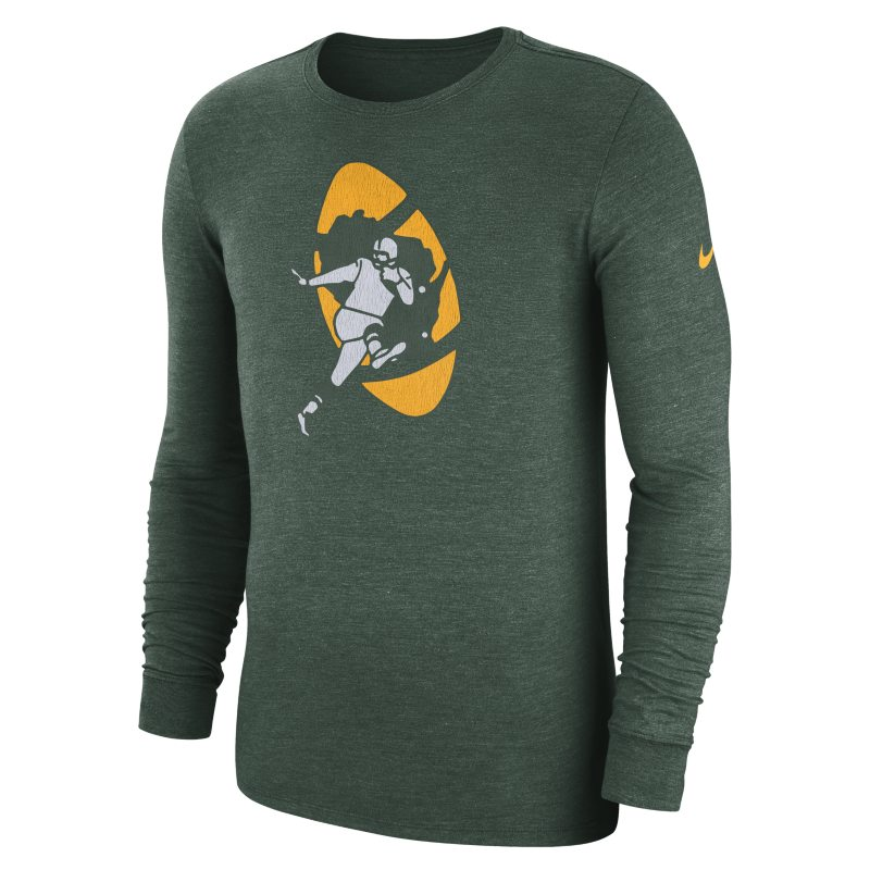 Nike Nike (NFL Packers) Men's Tri-Blend Long-Sleeve T-Shirt - Green