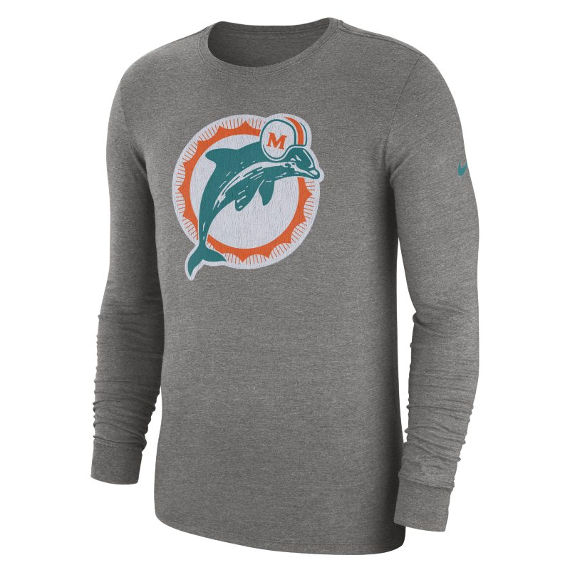 Nike Nike (NFL Dolphins) Men's Tri-Blend Long-Sleeve T-Shirt - Grey