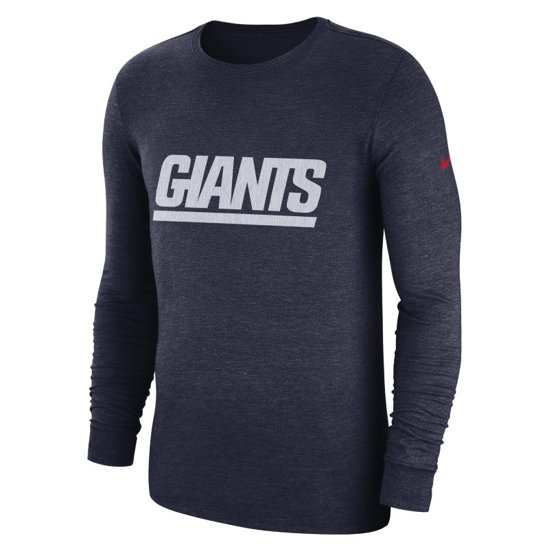 Nike Nike (NFL Giants) Men's Tri-Blend Long-Sleeve T-Shirt - Blue