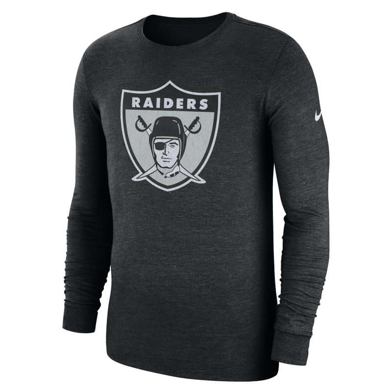 Nike Nike (NFL Raiders) Men's Tri-Blend Long-Sleeve T-Shirt - Black