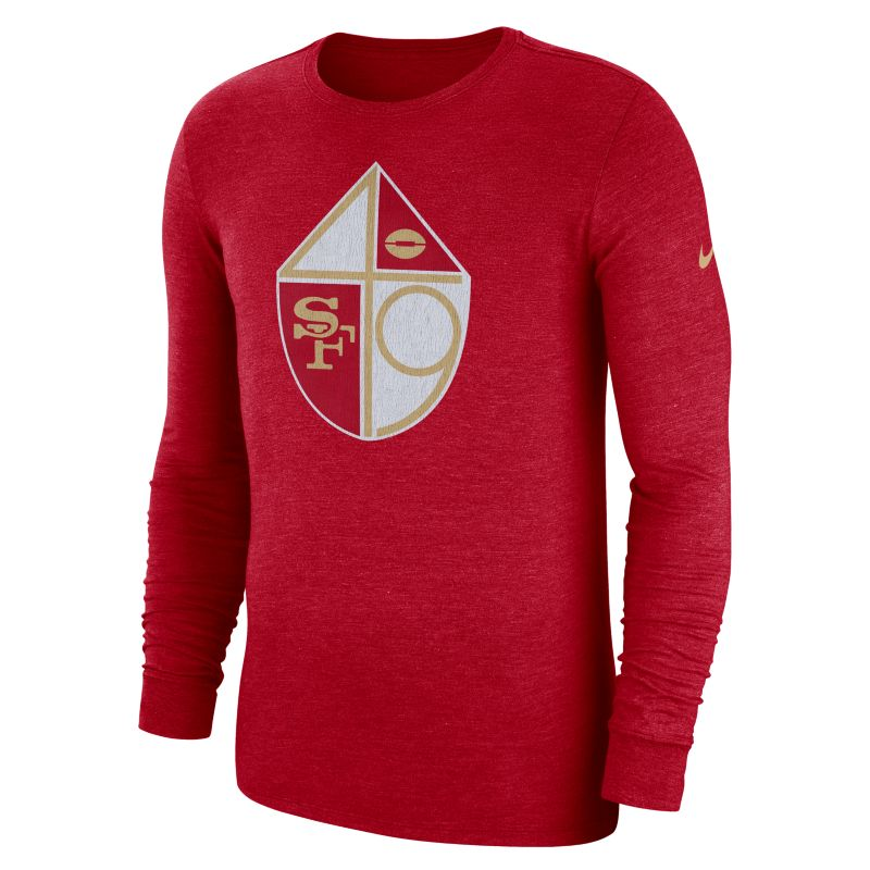 Nike (NFL 49ers) Men's Tri-Blend Long-Sleeve T-Shirt - Red
