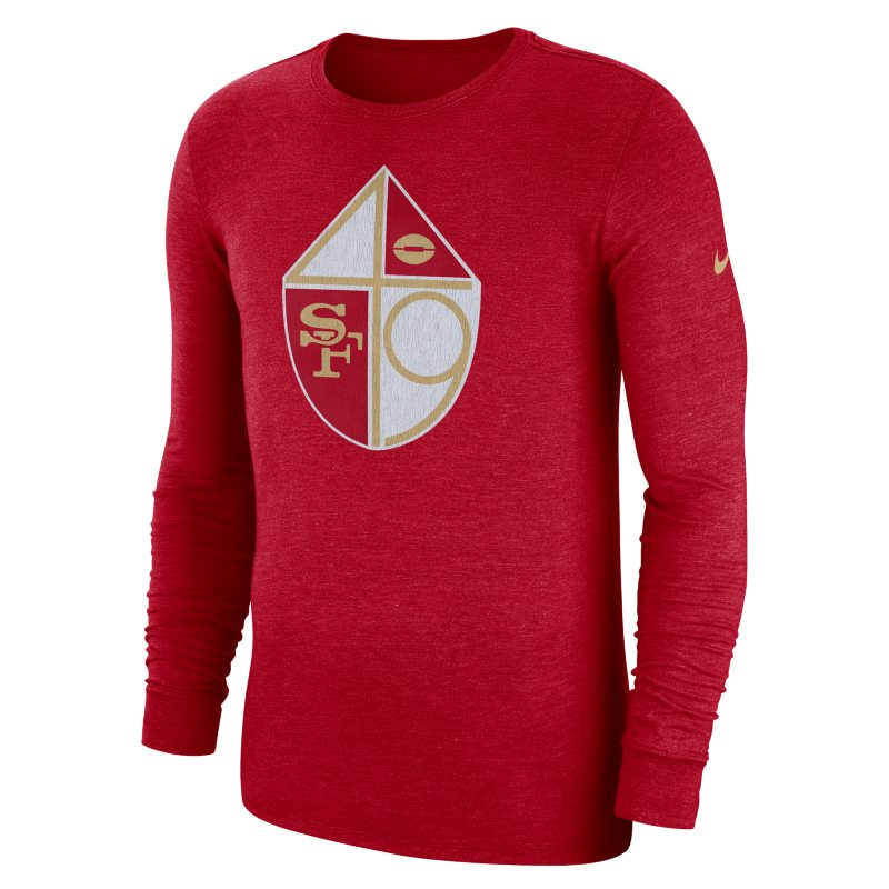Nike Nike (NFL 49ers) Men's Tri-Blend Long-Sleeve T-Shirt - Red