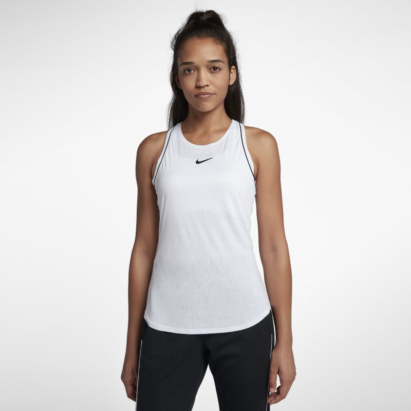 NikeCourt Dri-FIT Tennistanktop voor dames - Wit