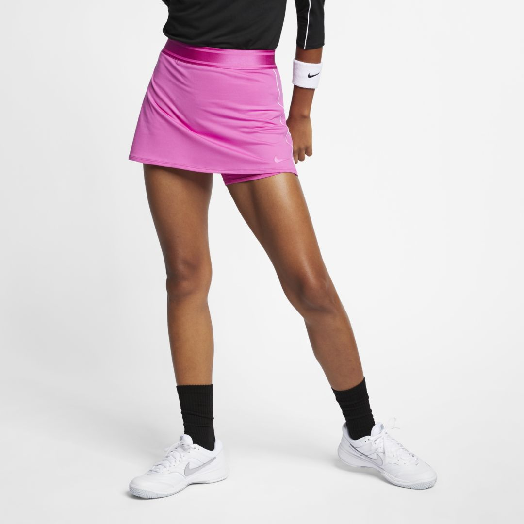Nike Court Dri Fit Women S Tennis Skirt In Red Modesens Inner shorts provide extra coverage while you move. modesens