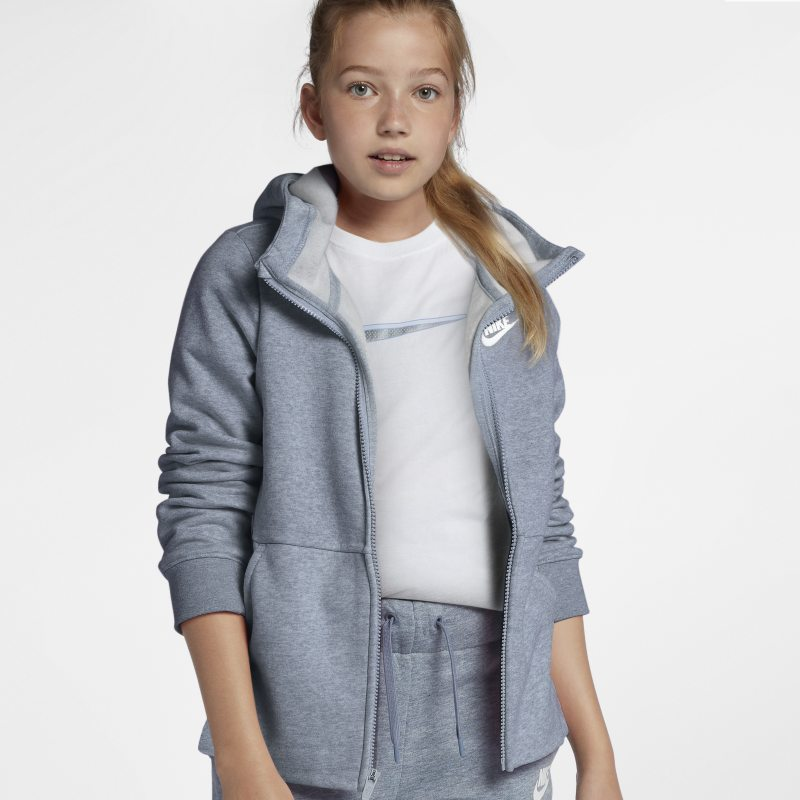 Nike Sportswear Older Kids'(Girls') Full-Zip Hoodie - Grey