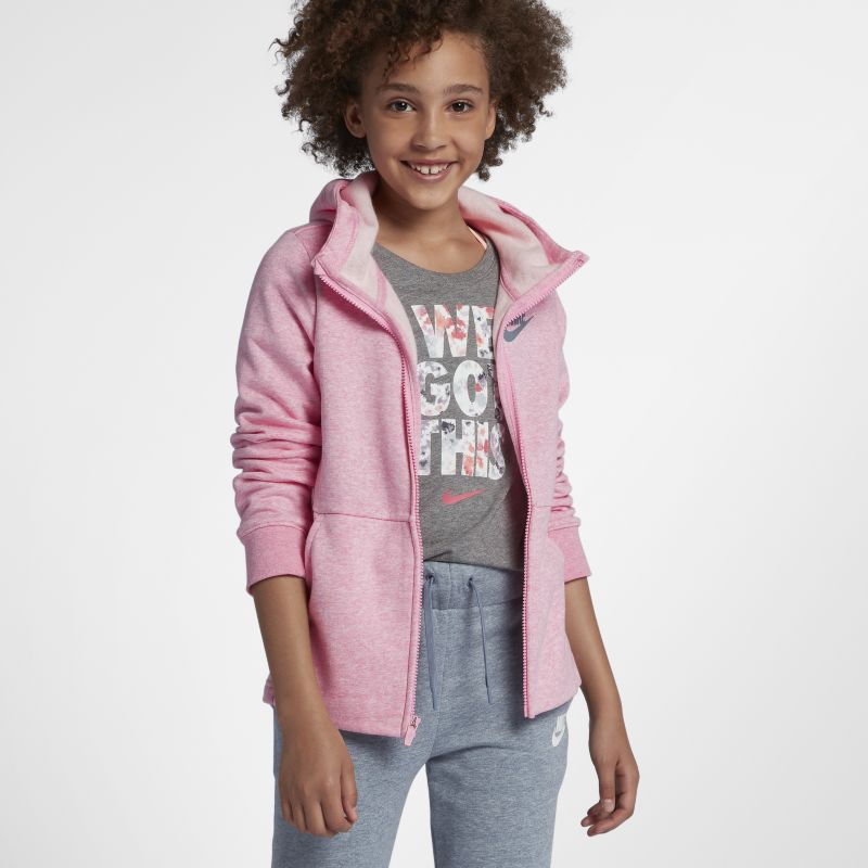 Nike Sportswear Older Kids'(Girls') Full-Zip Hoodie - Pink