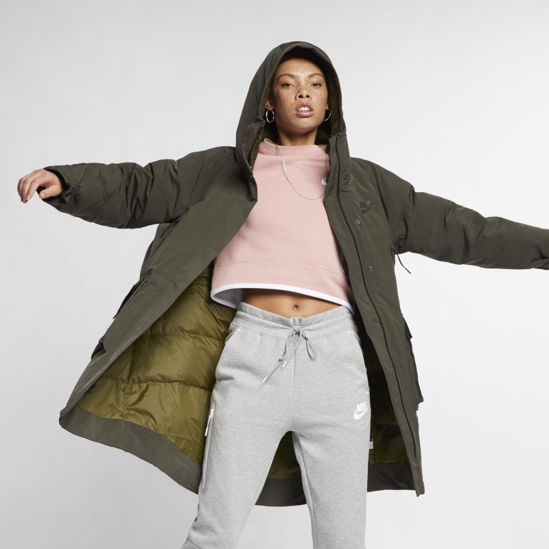 Nike Sportswear Tech Pack Down-Fill Women's Parka - Olive