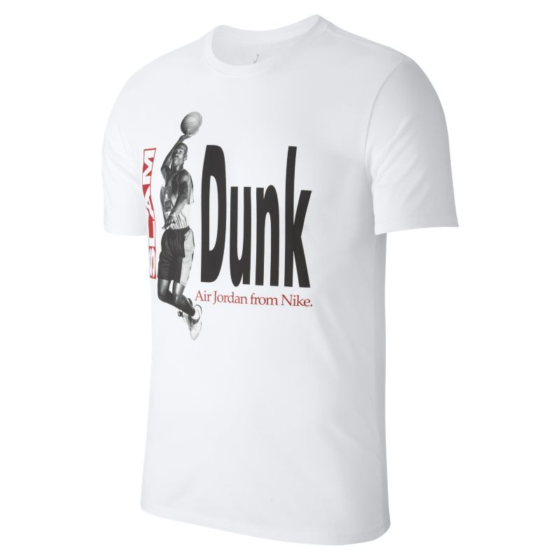 Jordan Air Photo Men's Basketball T-Shirt - White