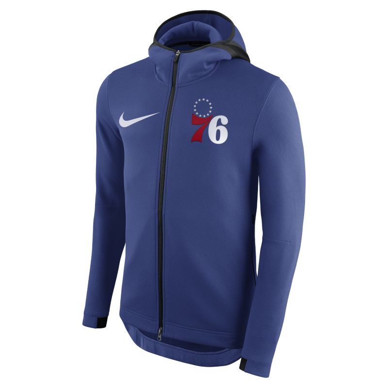 Philadelphia 76ers Nike Therma Flex Showtime Men's NBA Hoodie - Blue