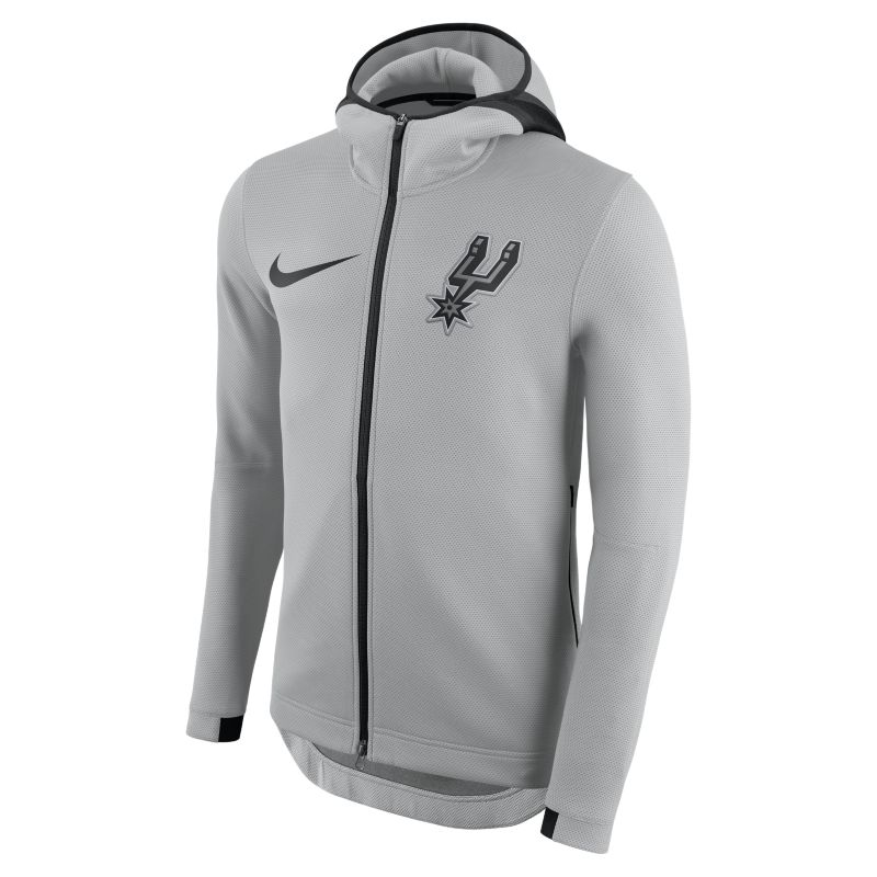 San Antonio Spurs Nike Therma Flex Showtime Men's NBA Hoodie - Silver