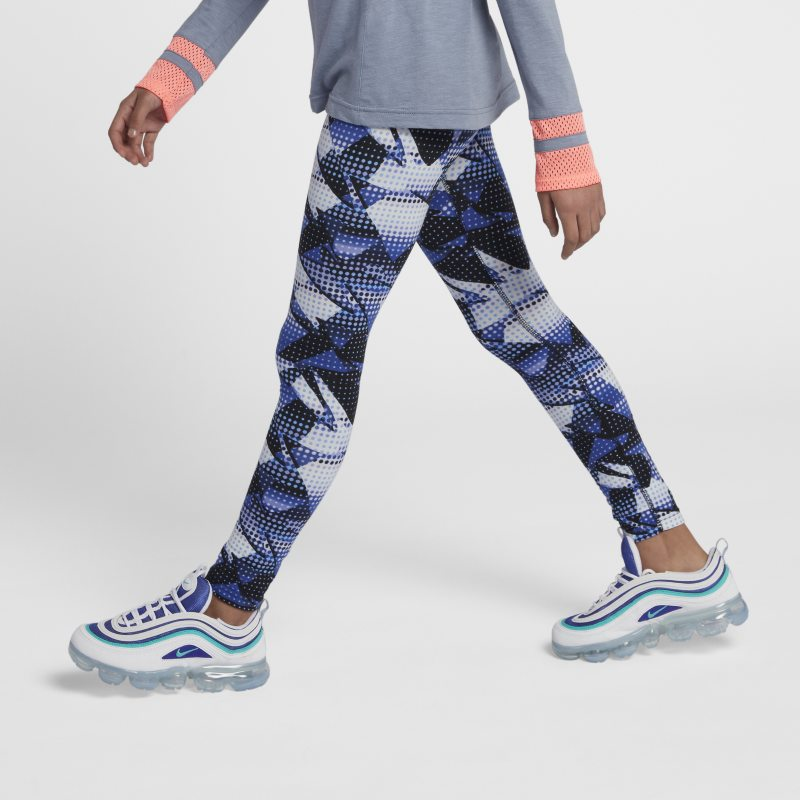 Nike Sportswear Older Kids'(Girls') Printed Leggings - Blue thumbnail
