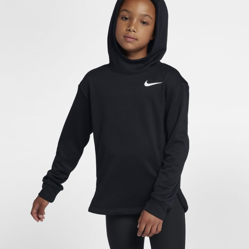 Nike Dri-FIT Older Kids'(Girls') Training Pullover Hoodie - Black
