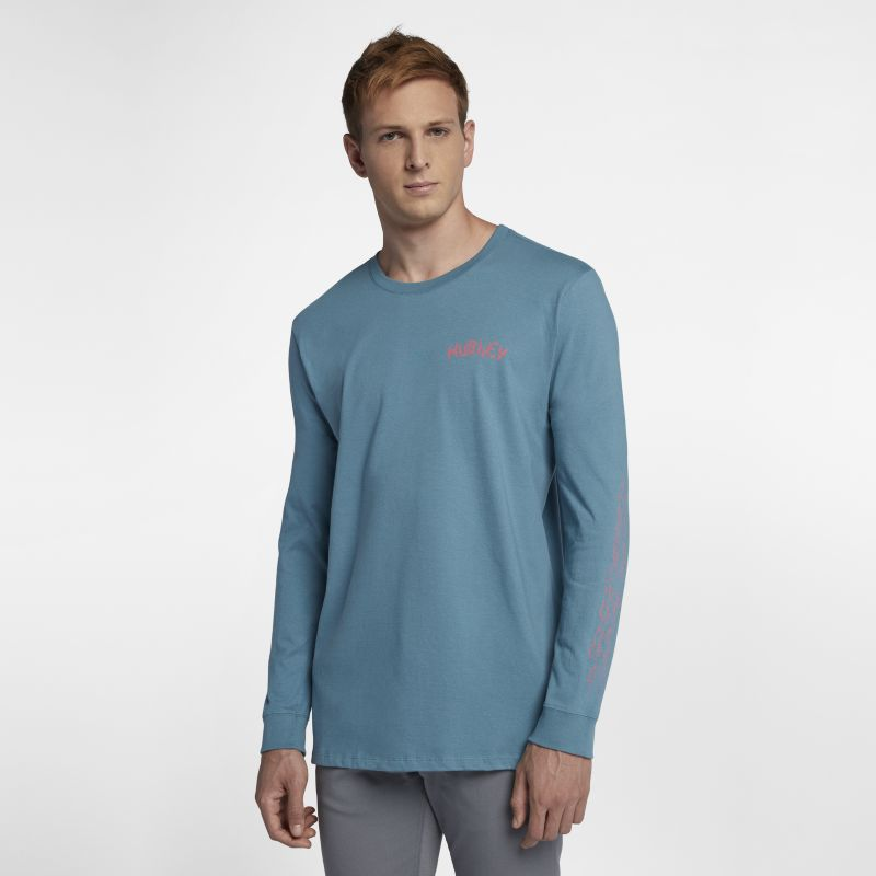 Hurley Stay Cool Men's Long-Sleeve T-Shirt - Blue