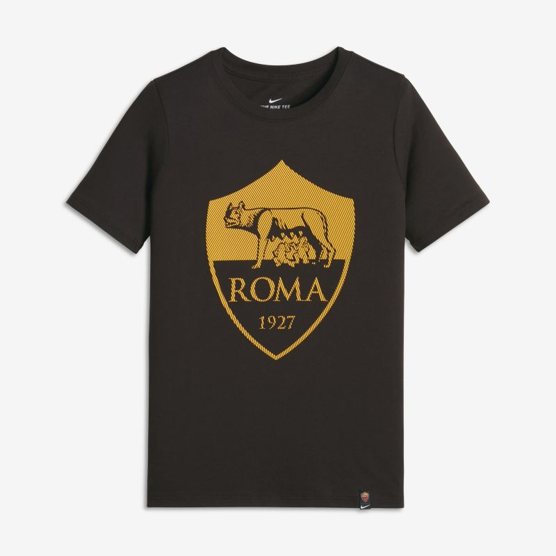 A.S. Roma Crest Older Kids'(Boys') T-Shirt - Brown